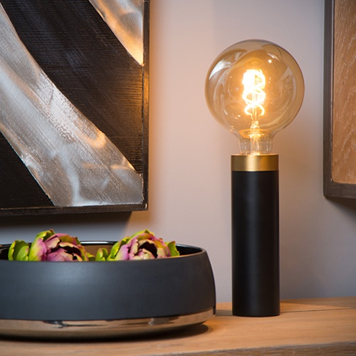 Lucide - SELIN - Table lamp - E27 - Black