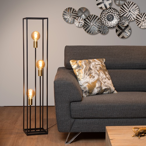 Lucide - RUBEN - Floor lamp - E27 - Black