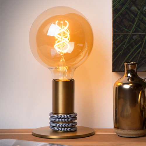 Lucide - MARIT - Table lamp - Ø 10 cm - E27 - Matt Gold / Brass